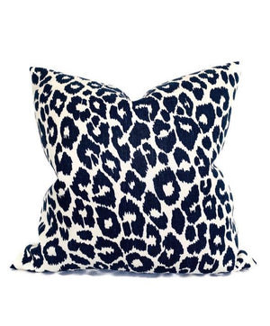 Schumacher Outdoor Iconic Leopard Pillow Cover in Ink