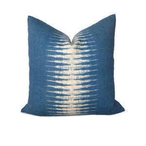 Peter Dunham Ikat Pillow Cover in Indigo Blue