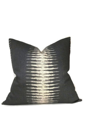 Peter Dunham Ikat Pillow Cover in Charcoal
