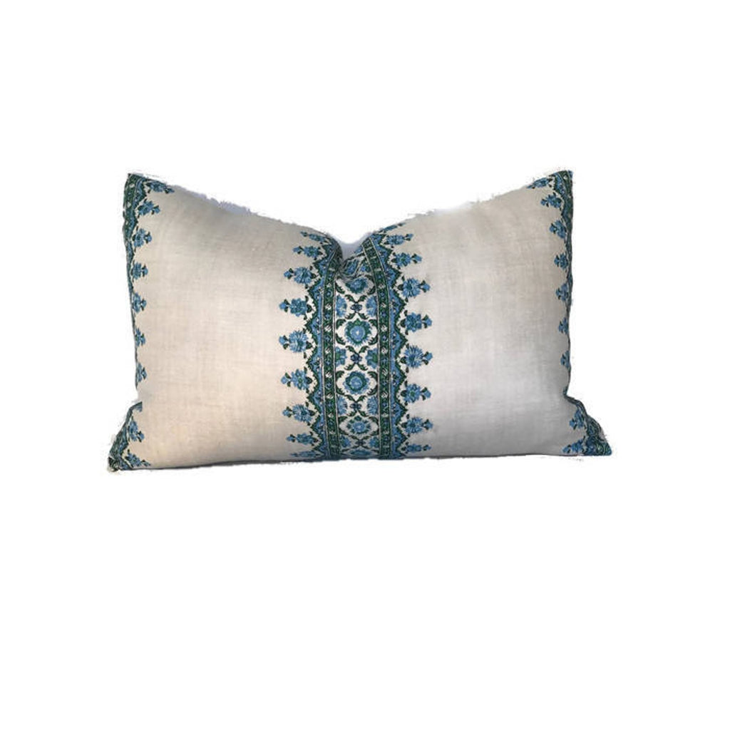 Peter Dunham Isfahan Stripe Pillow Cover in Blue/Green