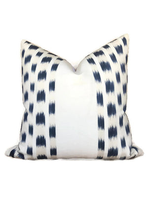 Schumacher Izmir Stripe Pillow Cover in Indigo Blue