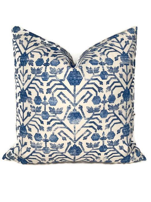 Zak and Fox Khotan Pillow Cover in Cobalt Blue