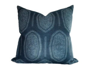 Kamba Pillow Cover in Indigo Blue