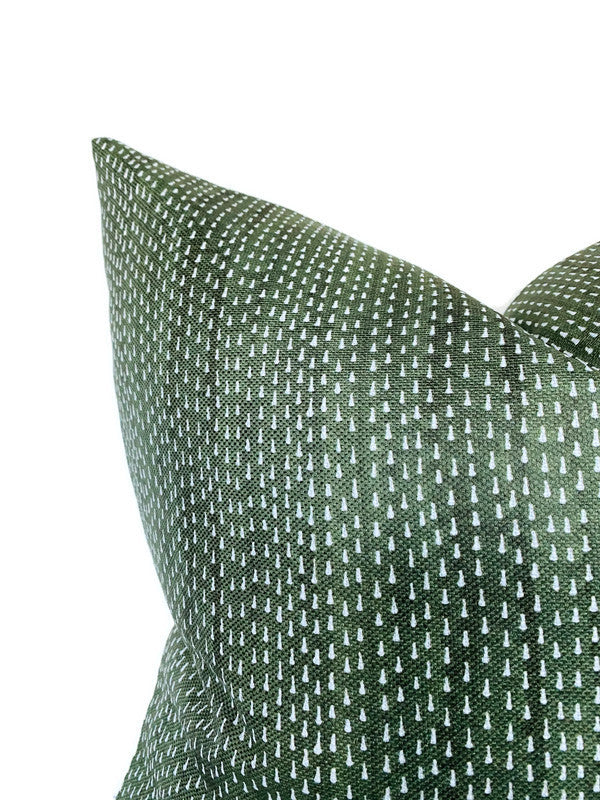 Kantha Pillow Cover in Willow