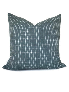 Karuso Pillow Cover in Mineral Blue
