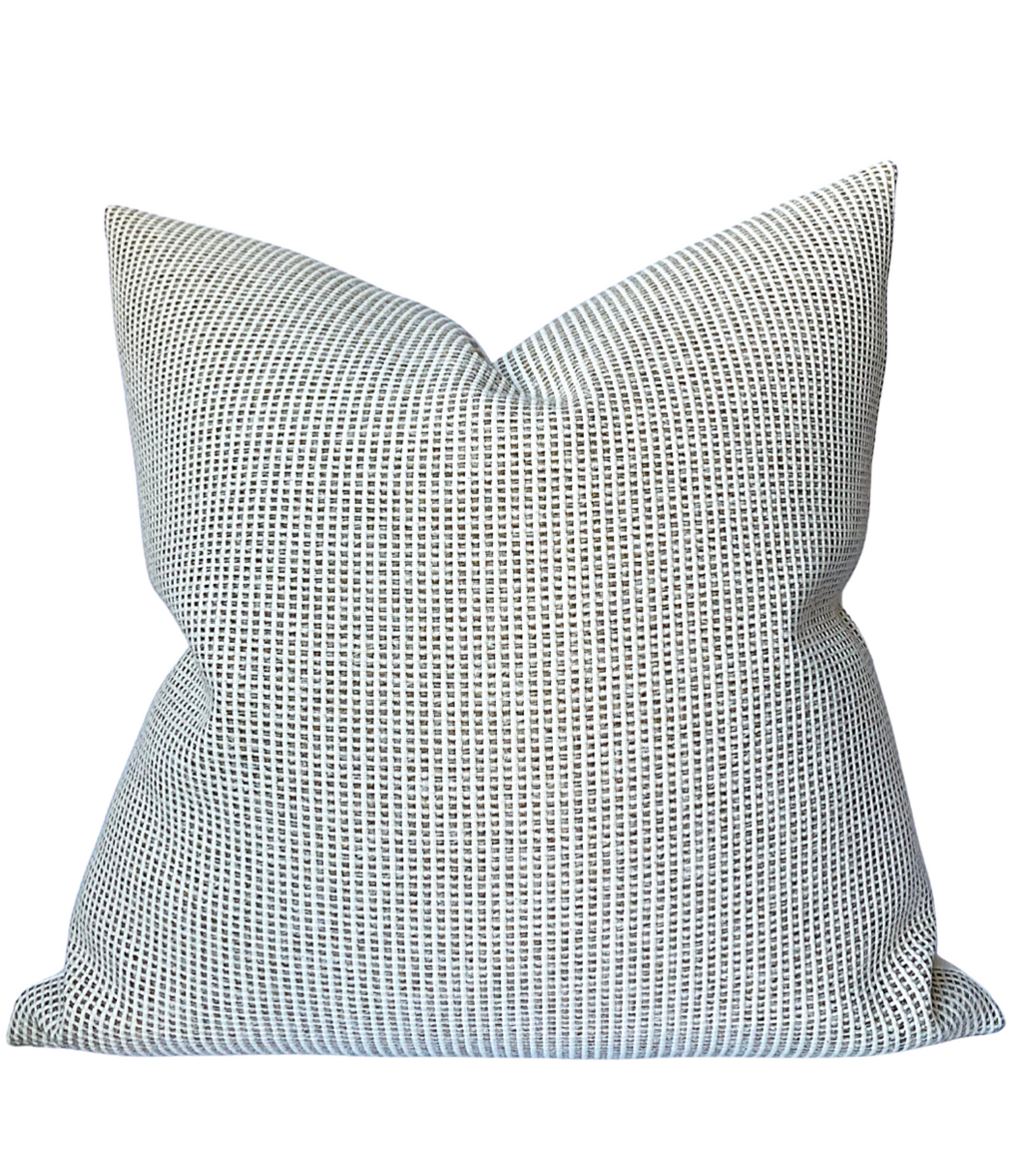 Ready to Ship, 20x20 Kumano Pillow Cover in Ivory