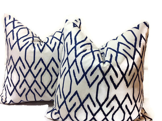 Lacefield Zoe Pillow Cover in Navy Blue