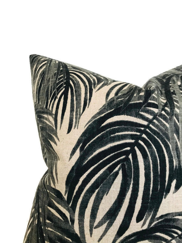 Lacefield Villa Pillow Cover in Granite