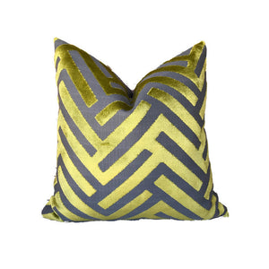 Lime Green Cut Velvet Pillow Cover