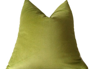 Robert Allen Lime Green Velvet Pillow Cover