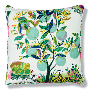 Schumacher Citrus Garden Pillow Cover in Lime