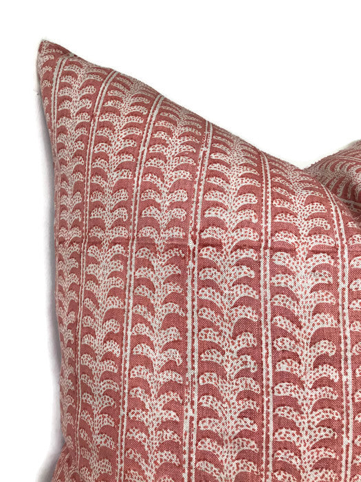 Luxur Pillow Cover in Guava, Walter G Pillows, Decorative Throw Pillows