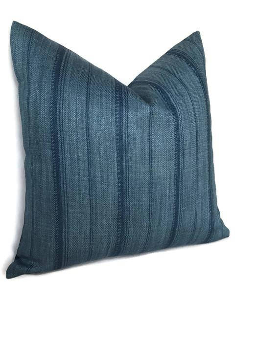 Peter Dunham Malabar Pillow Cover in Indigo Blue