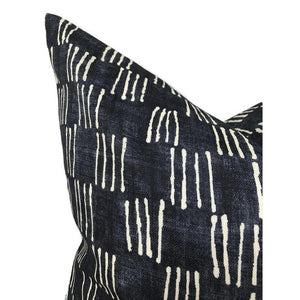 Matchsticks Pillow Cover in Indigo Blue