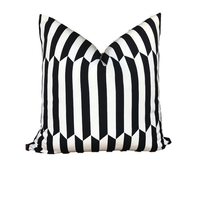 Schumacher Maxwell Pillow Cover in Black