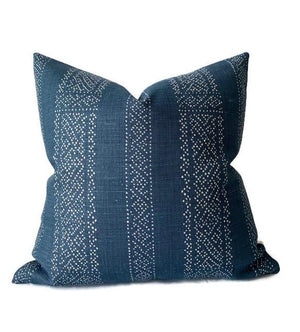 Clay McLaurin Miguel Pillow Cover in Indigo