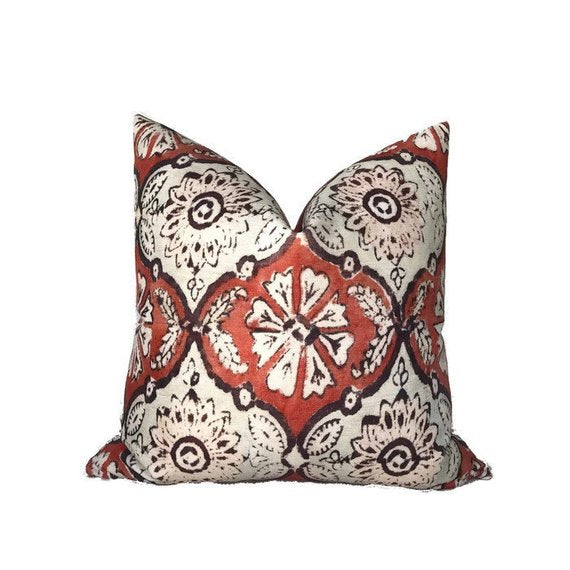 Peter Dunham Minnie Maharani Pillow Cover in Ruby Red