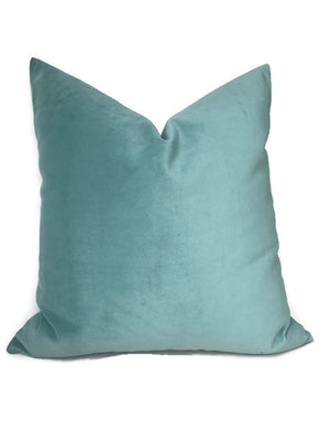 Robert Allen Mint Green Velvet Pillow Cover