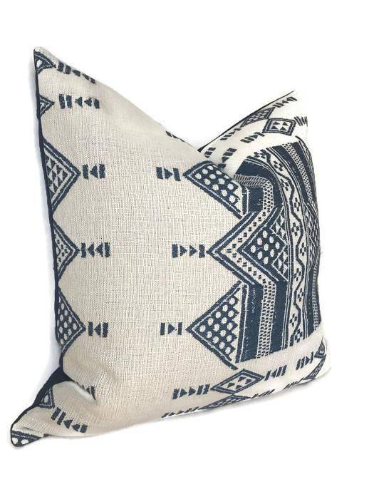 Ready to Ship, 14x26, Peter Dunham Mombasa Pillow Cover in Indigo Blue