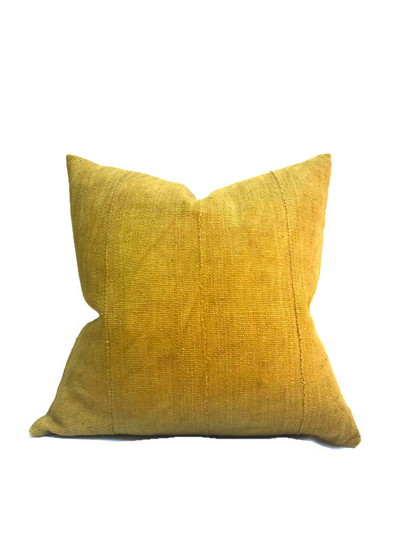 Mustard Yellow Mudcloth Pillow Cover