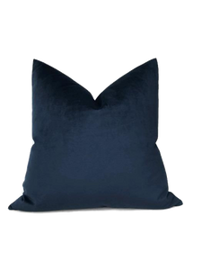 Robert Allen Velvet Pillow Cover in Navy Blue