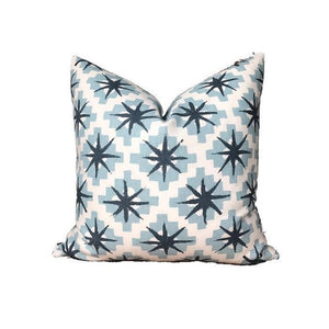Peter Dunham Starburst Pillow Cover in North Blue/Blue