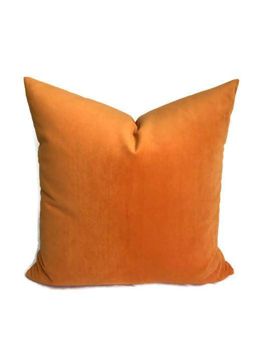 Ready to Ship, 20x20, Robert Allen Orange Velvet Pillow Cover