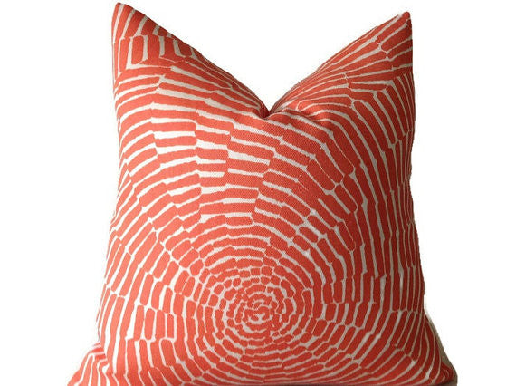 Schumacher Trina Turk Sonriza Pillow Cover in Orange