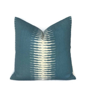Peter Dunham Ikat Pillow Cover in Peacock