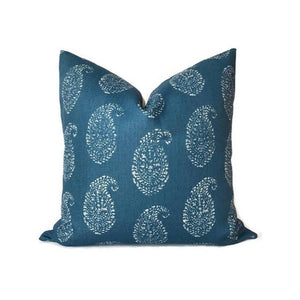 Peter Dunham Kashmir Paisley Pillow Cover in Indigo