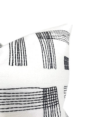 Kelly Wearstler Pastiche Pillow Cover in Chalk Jet