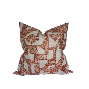 Zak and Fox Pazuru Pillow Cover in Persimmon
