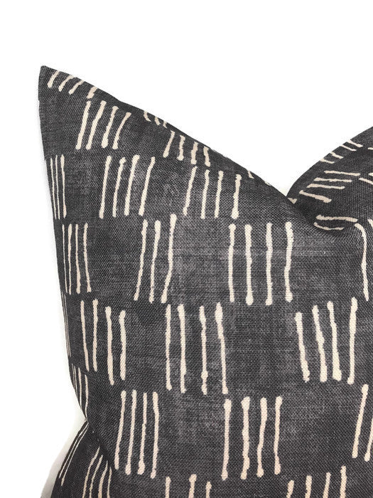 Matchsticks Pillow Cover in Pebble Grey