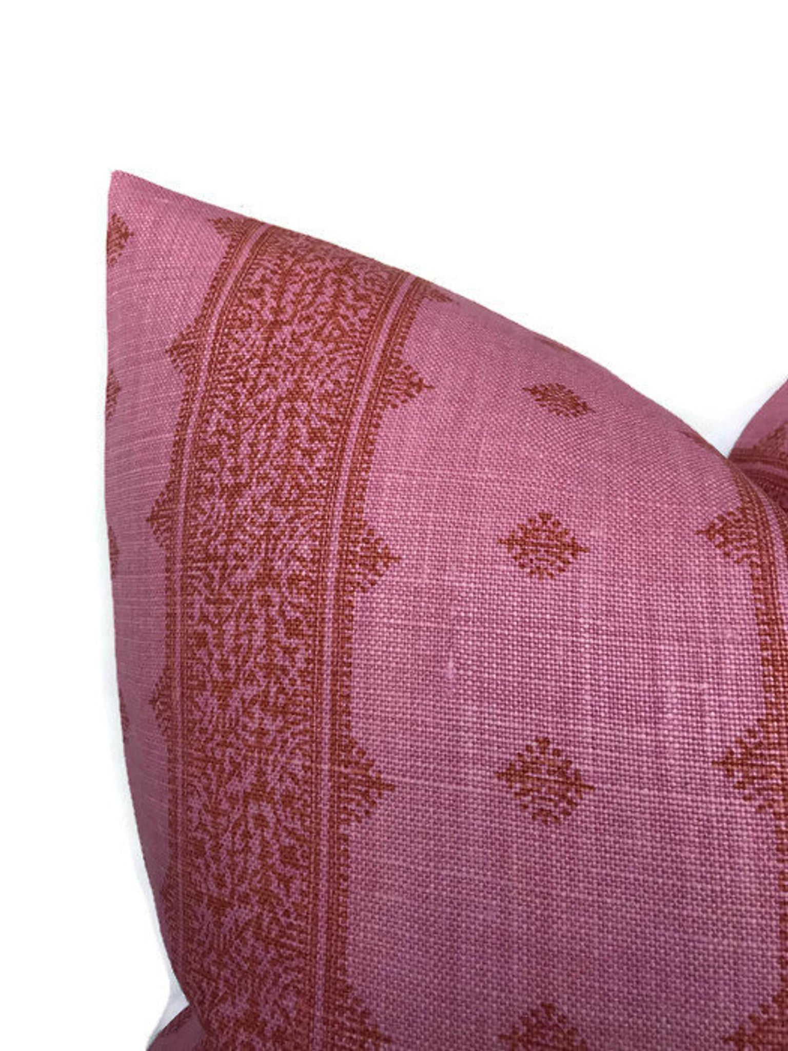 Peter Dunham Fez Pillow Cover in Pink and Orange