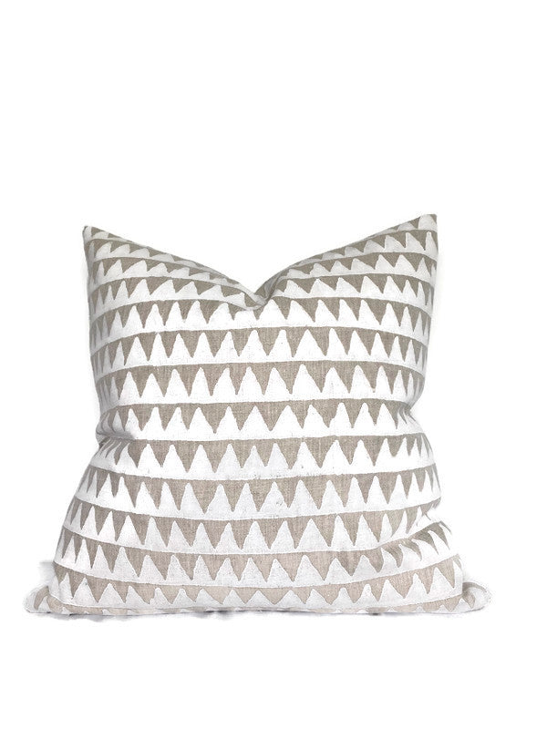 Pyramids Pillow Cover in Chalk, Walter G Textiles