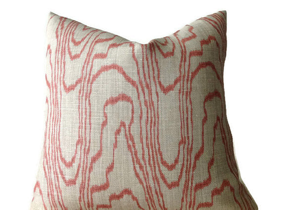 Kelly Wearstler Lee Jofa Groundworks Pillow Cover in Agate Salmon