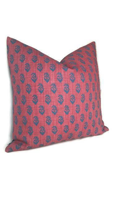 Peter Dunham Rajmata Tonal Pillow Cover in Red and Blue