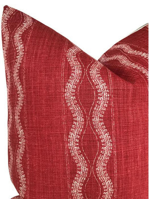 Peter Dunham Zanzibar Pillow Cover in Red