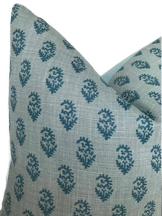 Peter Dunham Rajmata Tonal Pillow Cover in Blue
