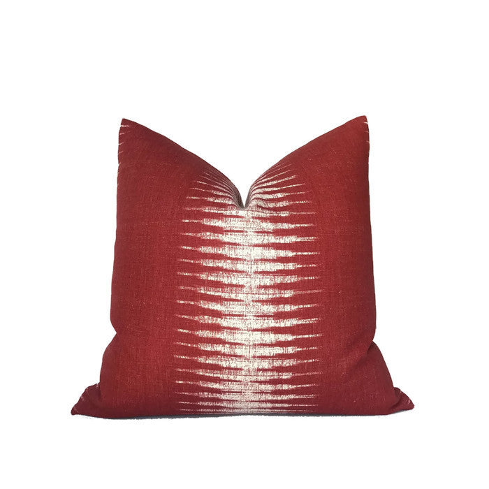 Peter Dunham Ikat Pillow Cover in Pomegranate