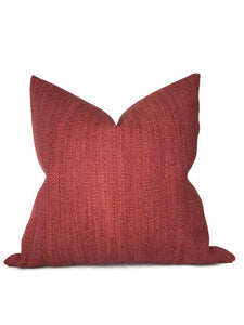 Zak and Fox Pampa Pillow Cover in Cochineal Red