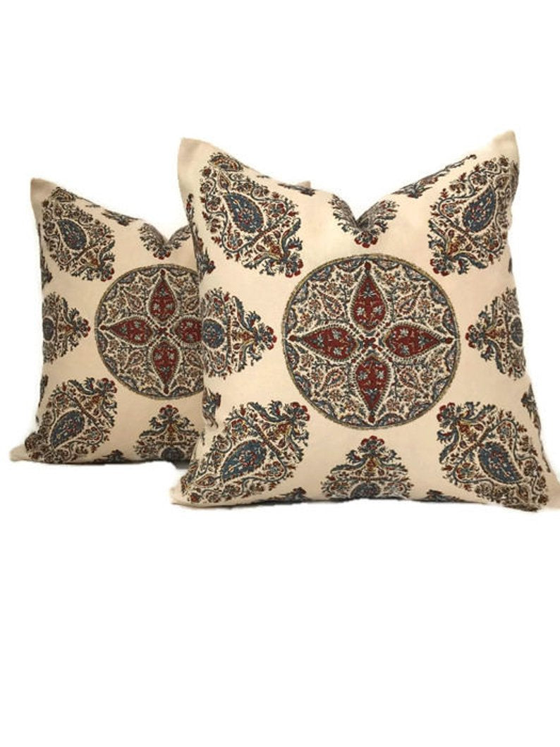Peter Dunham Samarkand Pillow Cover in Red Blue