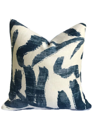 Zak and Fox Sauvage Pillow Cover in Azure