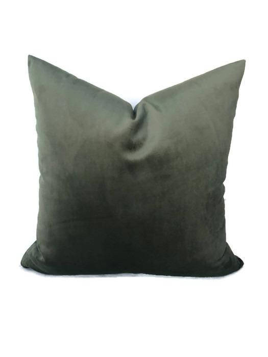 Robert Allen Sage Green Velvet Pillow Cover