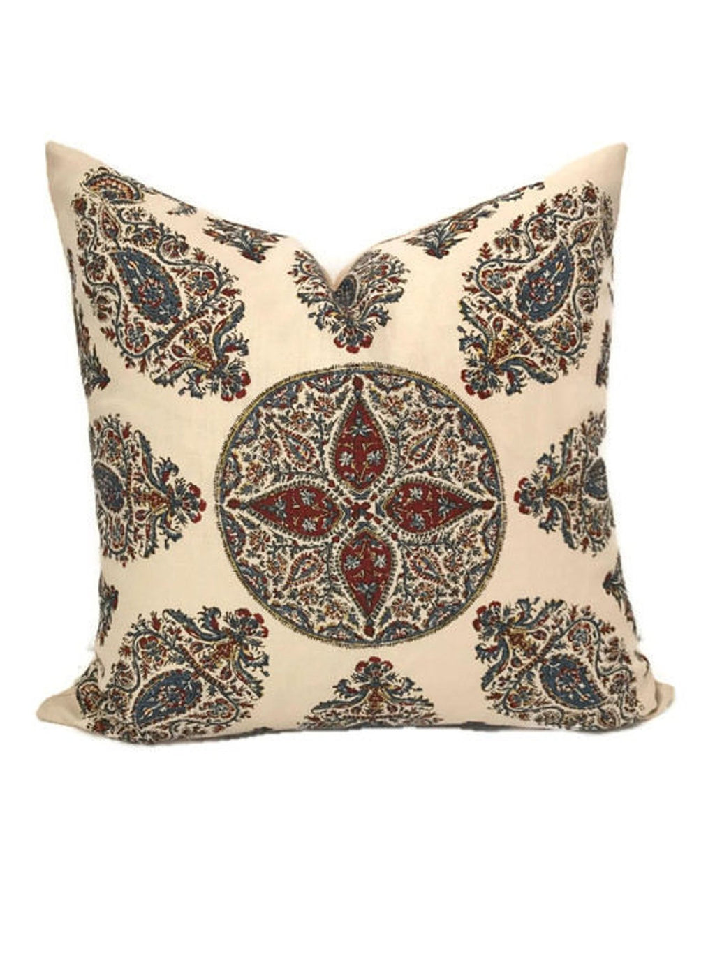 Ready to Ship, 22x22, Peter Dunham Samarkand Pillow Cover in Red Blue