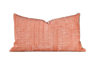 Shashiko Pillow Cover in Tangerine