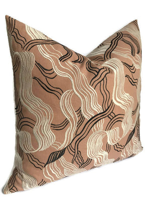 Kelly Wearstler Jubilee Embroidered Pillow Cover in Shell