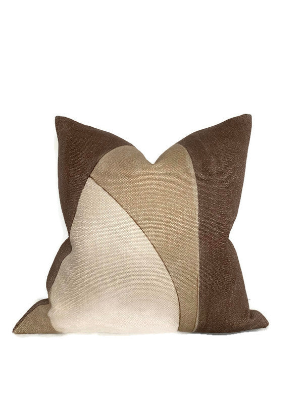 Ready to Ship, 16x16, Kelly Wearstler District Pillow Cover in Silt Brown