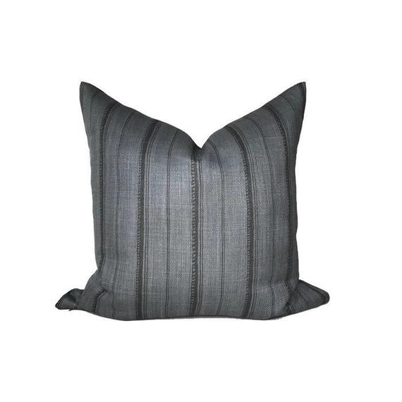Peter Dunham Malabar Pillow Cover in Slate Grey