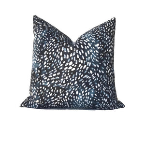 Speckled Pillow Cover in Navy Blue